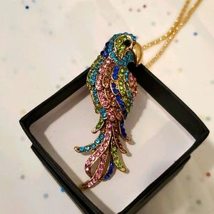 Parrot Necklace/Broch